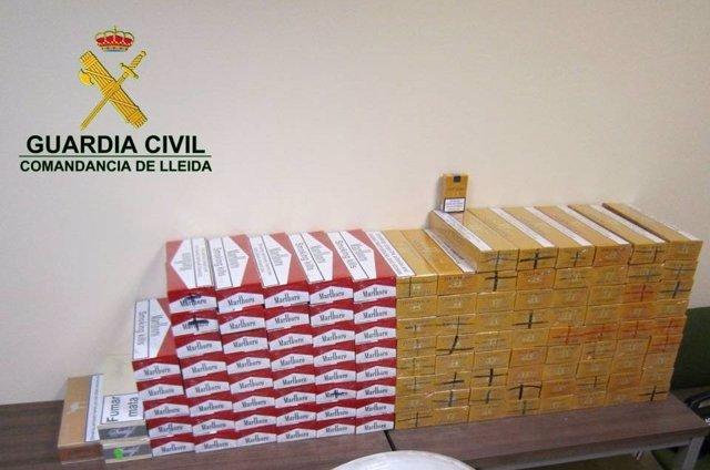 Intervienen 5.000 euros en tabaco de contrabando desde Andorra