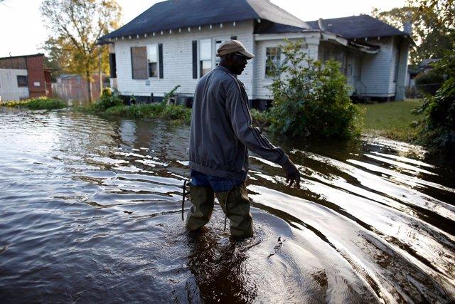 Inundación causada por el huracán 'Matthew' en Estados Unidos