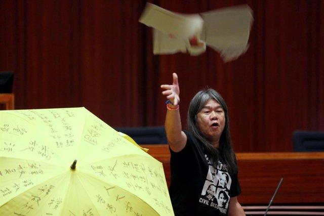 Protestas en la toma de posesión de Hong Kong