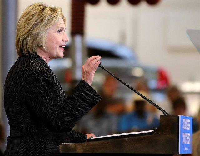 Hillary Clinton, precandidata del Partido Demócrata a la Casa Blanca