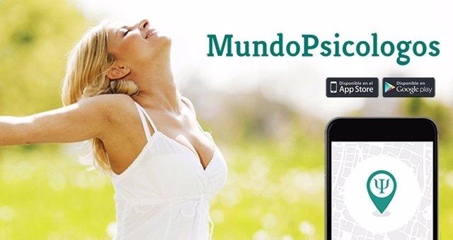 MundoPsicólogos, app para contactar con psicólogos de cada ciudad