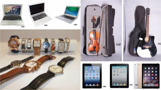 Joyas tablets y hasta un viol n estos son los objetos for Oficina objetos perdidos madrid