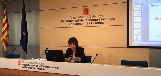 La directora general de Tributos y Juego, Marta Espasa