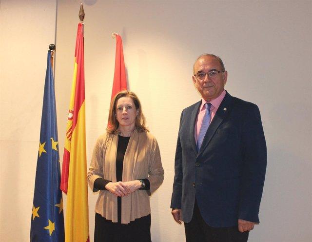 Soledad Cabezón y Juan José Rodríguez Sendín