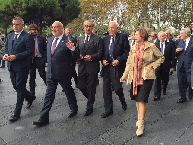 Inauguración del Salón Náutico de Barcelona con el ministro J.M.García Margallo