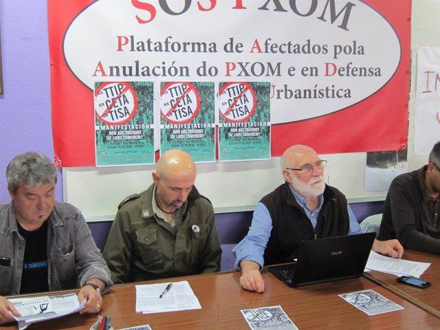 Presentación de la manifestación TTIP en Vigo