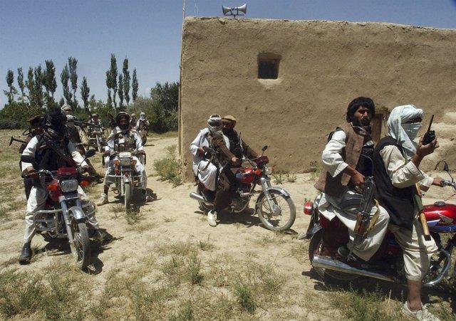 Milicianos talibán en Afganistán