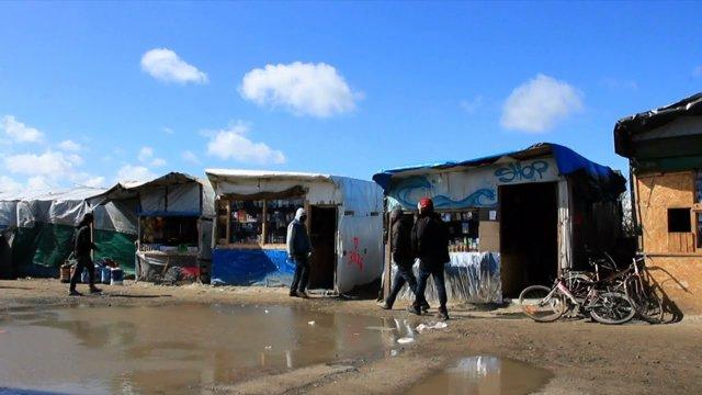Campamento de refugiados en Calais