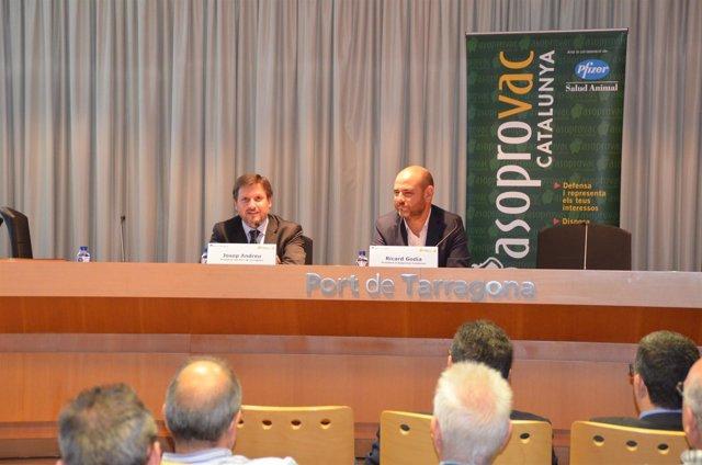 J. Andreu y R. Godia en las jornadas organizadas por Asoprovac