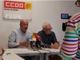 El secretario general de CCOO de Catalunya, Joan Carles Gallego