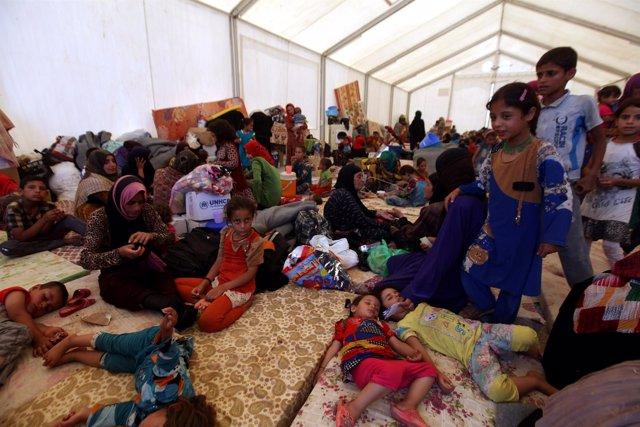 Desplazados de Mosul