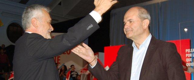 Griñán Y Chaves En Un Acto Electoral Con Rubalcaba