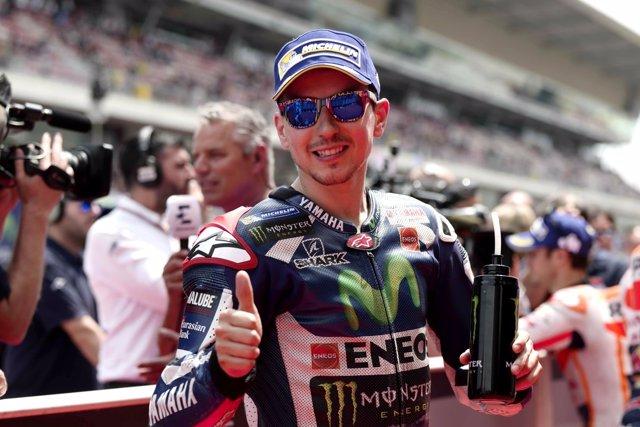 Jorge Lorenzo durante el GP de Catalunya