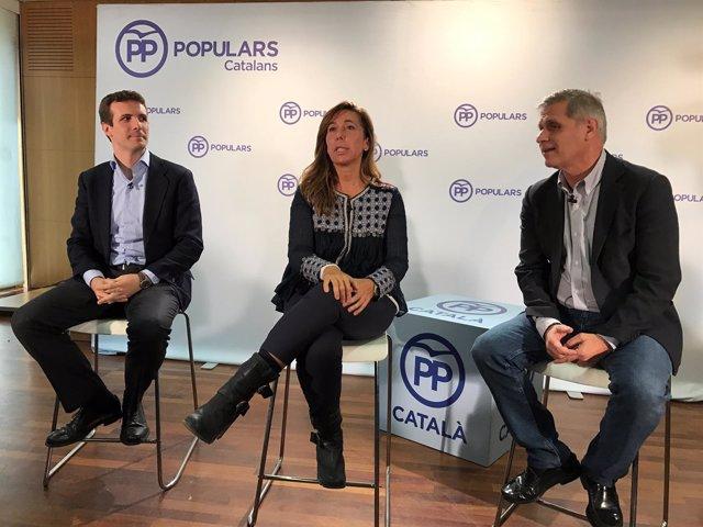 Pablo Casado, Alicia Sánchez Camacho y Alberto Fernández, PP
