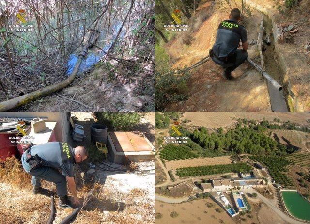 La Guardia Civil Sorprende A Cuatro Personas Sustrayendo Agua Del Río Quípar Y D