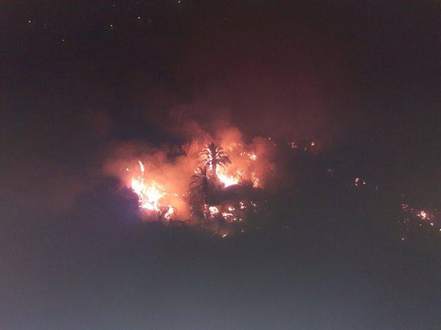 Conato de incendio en La Culata (Gran Canaria)