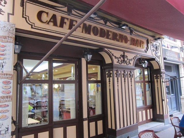 FACHADA CAFÉ MODERNO