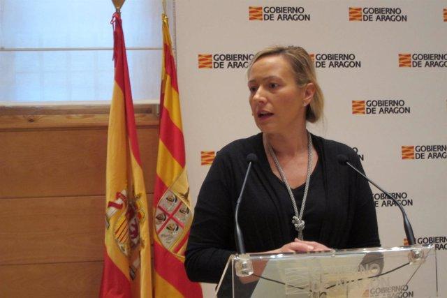 La consejera de Economía, Marta Gastón, este viernes en la rueda de prensa.