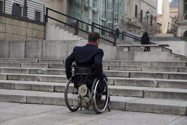 accesibilidad, ciudad, silla de ruedas, discapacidad,