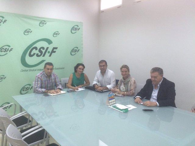 Los populares con CSIF.