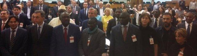 Artigas en una reunión de la FAO en Milán