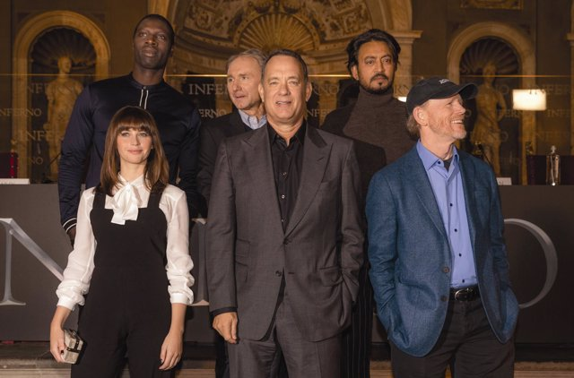 Presentación de Inferno: Tom Hanks, Ron Howard, Dan Brown y Felicity Jones