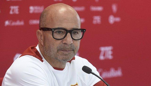 Jorge Sampaoli, entrenador del Sevilla