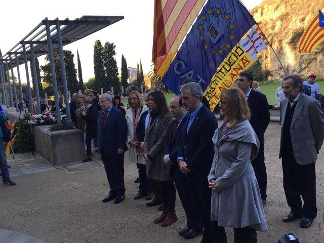Joseé Montilla, Assumpta Escarp, Núria Parlon, Miquel Iceta y Jaume Collboni