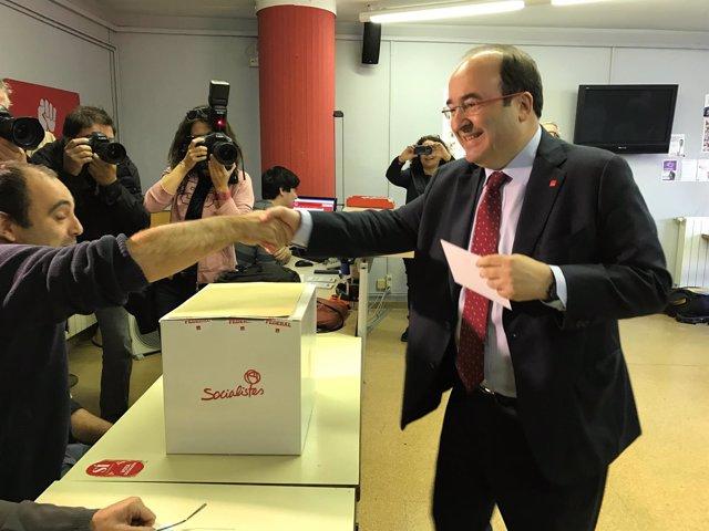 El primer secretario del PSC y candidato a la reelección, Miquel Iceta