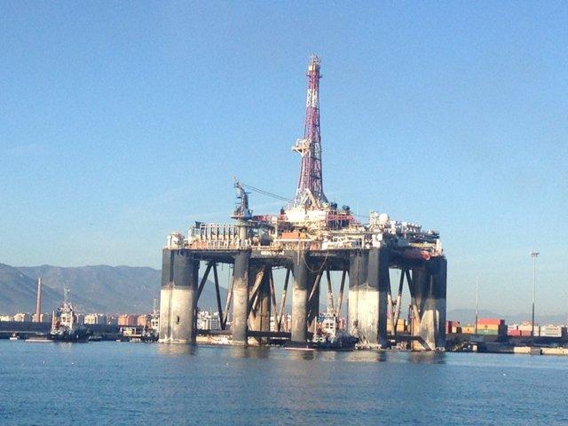 Plataforma petrolífera Sedco 702 puerto de málaga