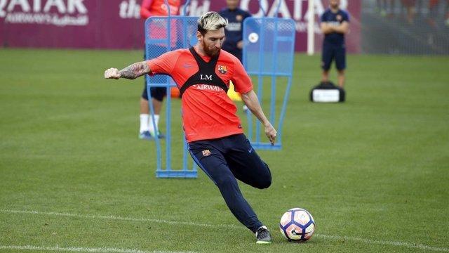 Leo Messi Barcelona entrenamiento