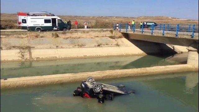 Accidente en el que ha muerto un hombre en el término municipal de Alcubierre.