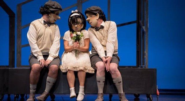 Un momento de la obra de teatro 'Amour'