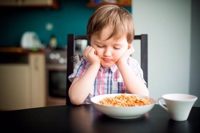Niño, comer, comida