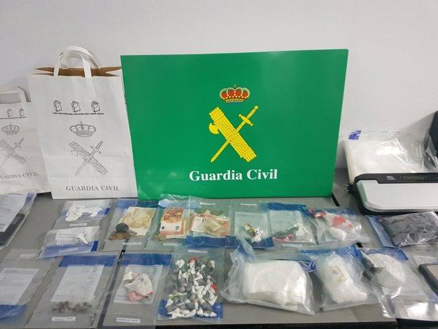 Droga intervenida en Ourense en un operativo con seis detenidos