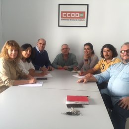 Reunión del PP del Ayuntamiento de Huelva con CCOO