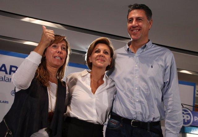 Alícia Sánchez-Camacho, Dolores de Cospedal y Xavier García Albiol (PP)