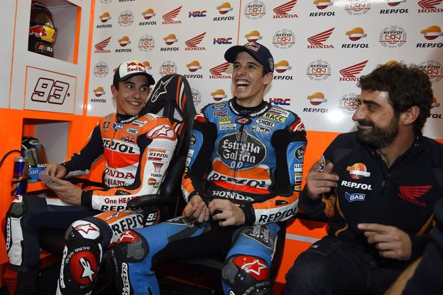 Marc Márquez y su hermano Alex