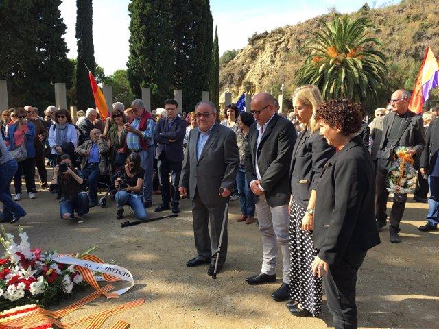 Homenaje a las víctimas del franquismo con la consellera Neus Munté