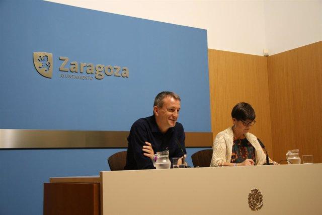 Fernando Rivarés y Elena Laseca hacen balance de las Fiestas del Pilar.