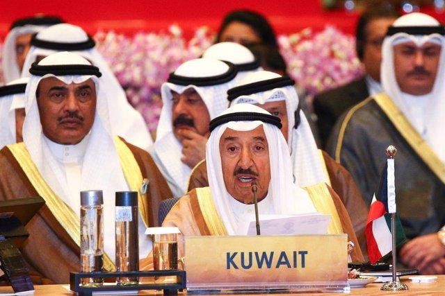 El emir de Kuwait, Sabá Ahmed al Salá