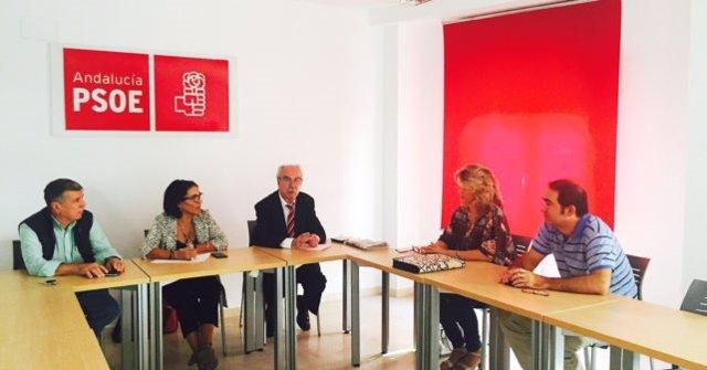 Reunión del PSOE con comunidades de regantes de Huelva