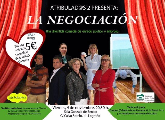 Cartel de la Negociación obra de teatro