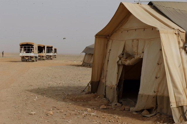 Campo de refugiados sirios en Rakban