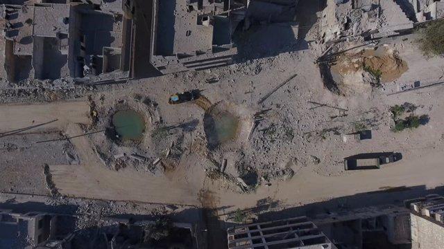 La ciudad de Alepo en Siria fotogrfiada desde un dron