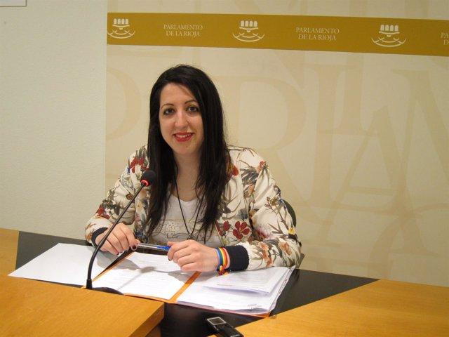 La diputada de 'Ciudadanos' Rebeca Grajea de la Torre en comparecencia de prensa
