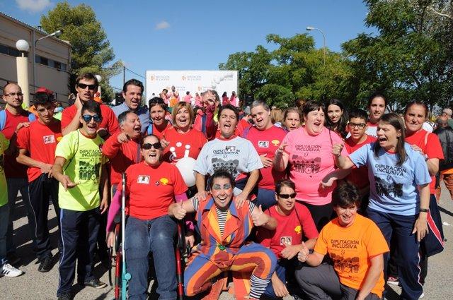 Actividad Diputación Inclusiva que se ha celebrado en Cáceres