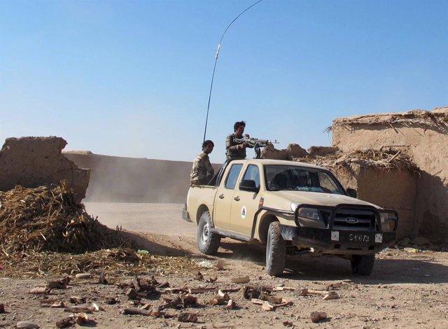 Militares del Ejército afgano en Helmand