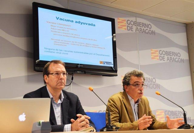 Javier Marzo y Francisco Javier Falo, este lunes, en rueda de prensa.