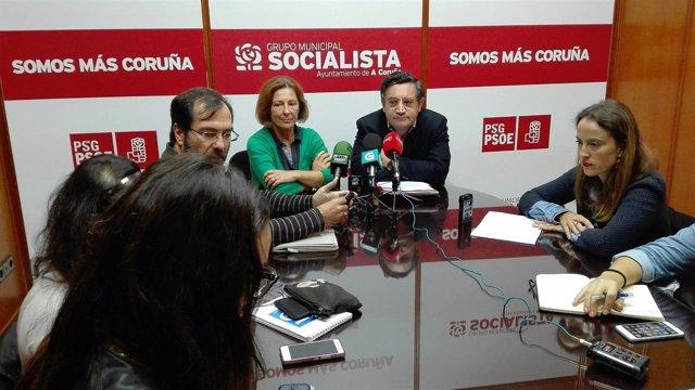 Rueda de prensa del PSOE de A Coruña.